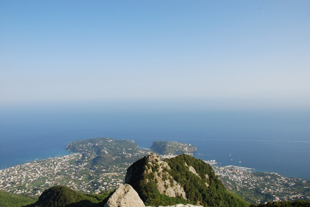 The peak of Mount Epomeo in Ischia, Italy's best-kept secret