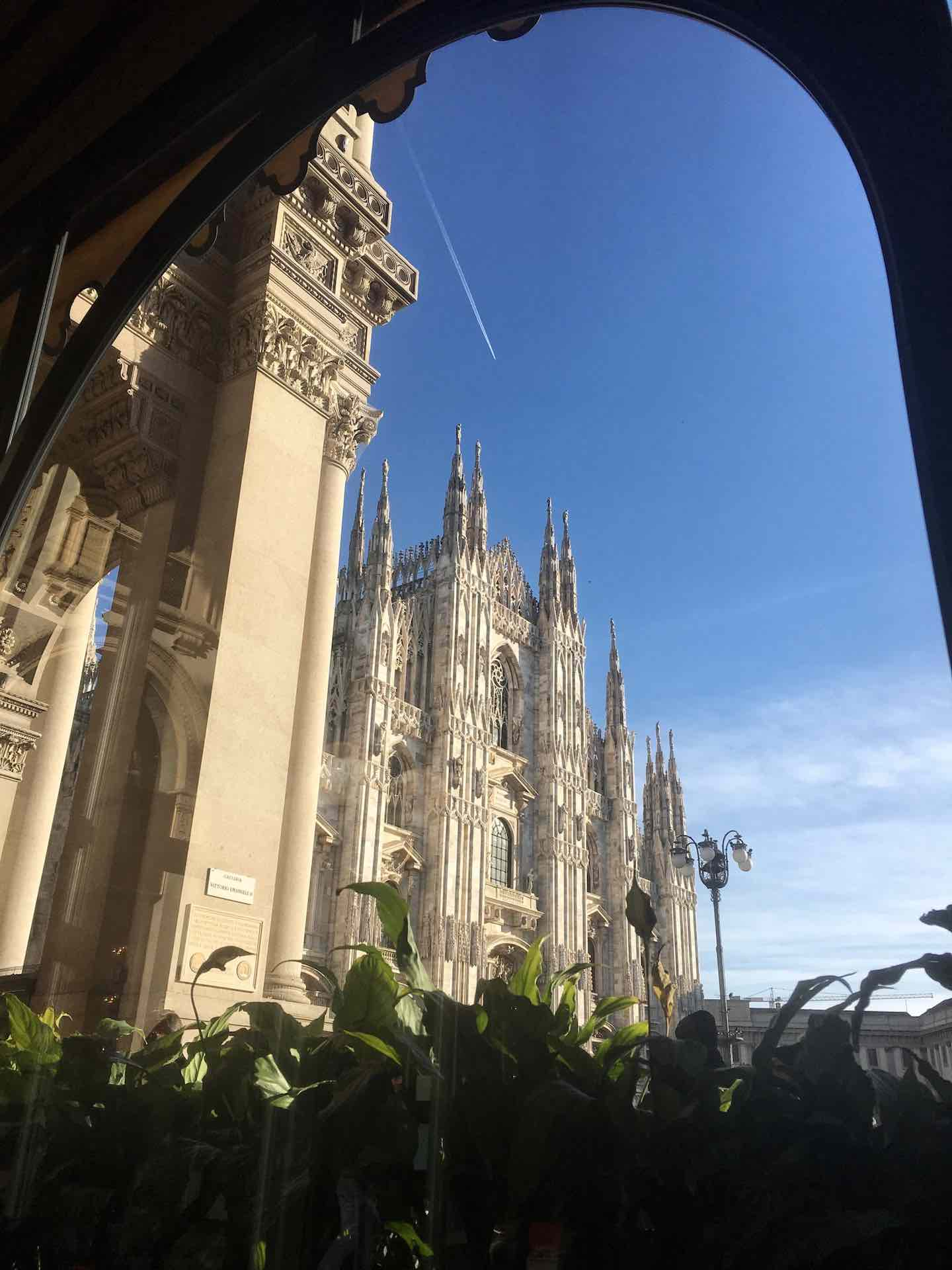 View of Milan's Duomo from Camparino in Galleria | Image © ExpatAlli.com
