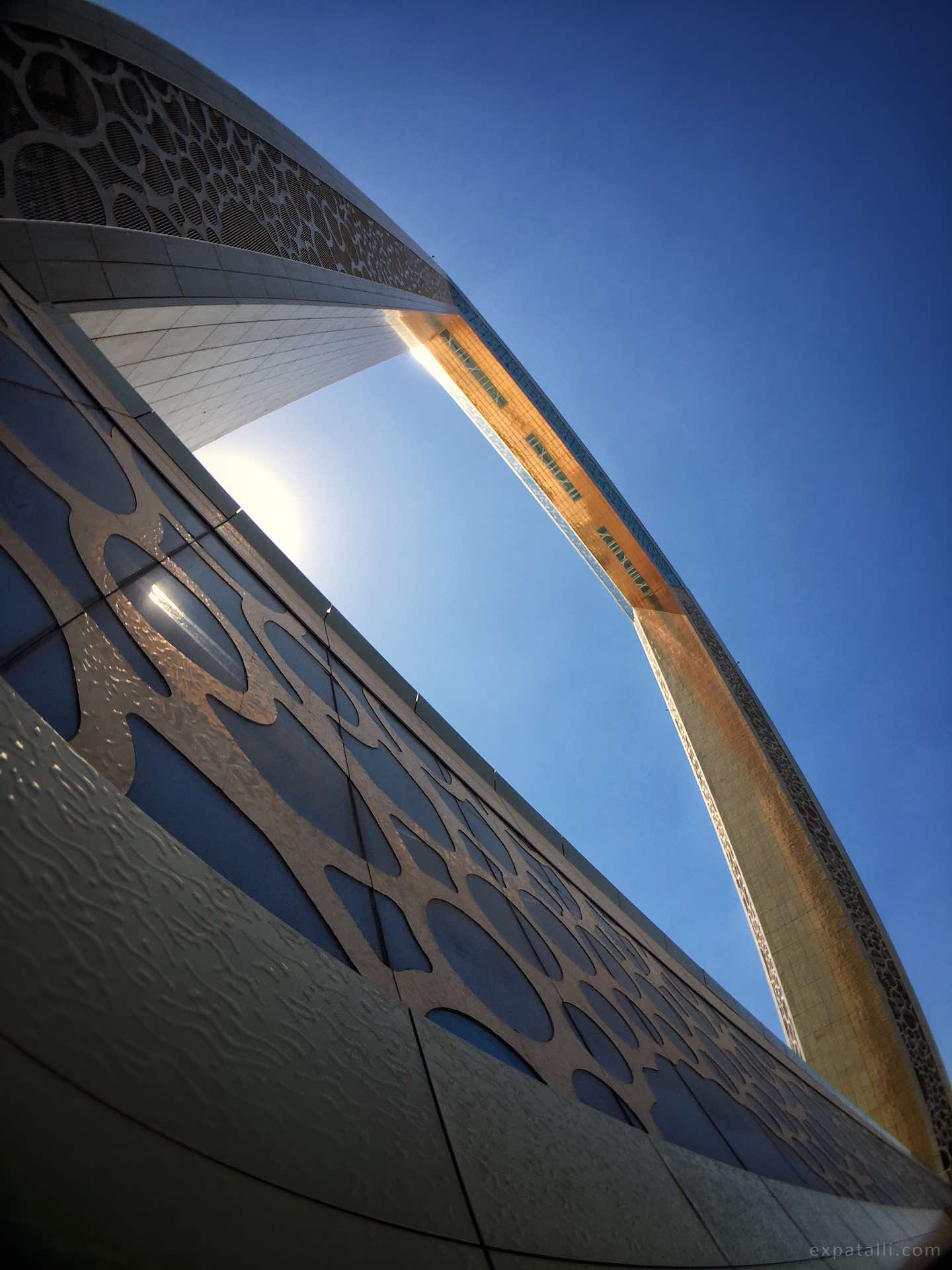 View of the Dubai Frame from below | Image © ExpatAlli.com