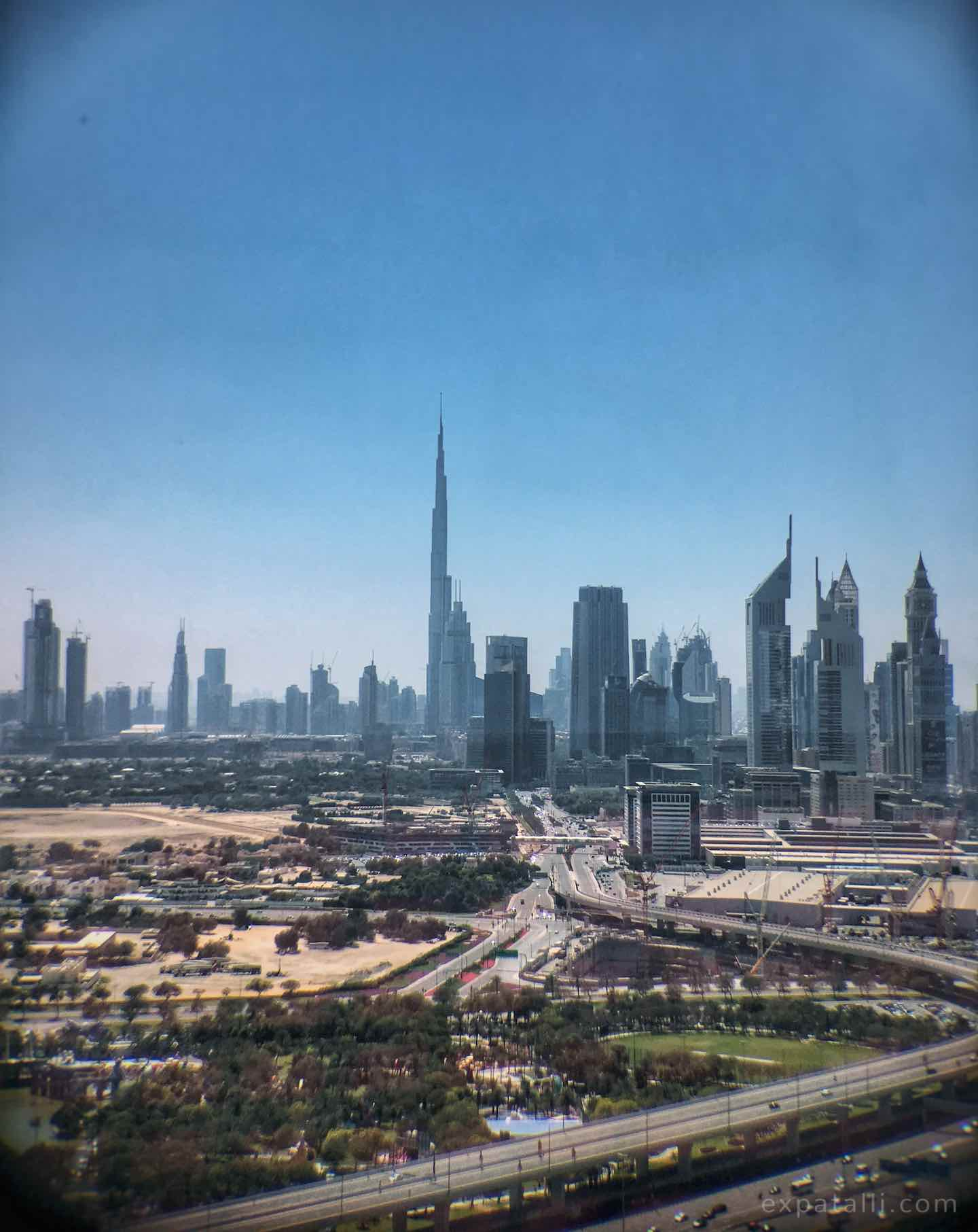 View of Downtown Dubai from the Dubai Frame | Image © ExpatAlli.com
