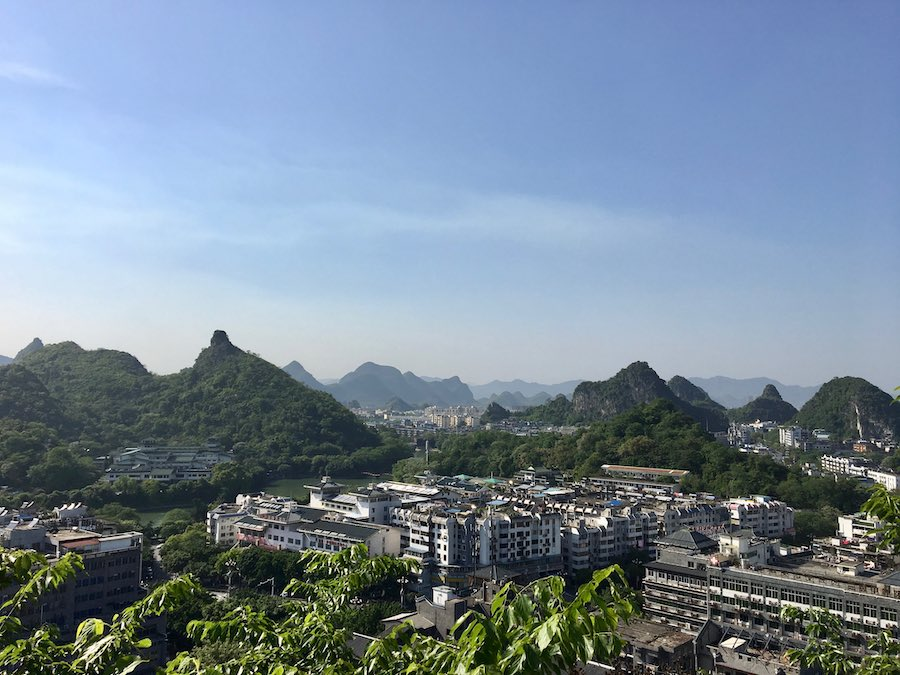 Aerial view of Guilin city