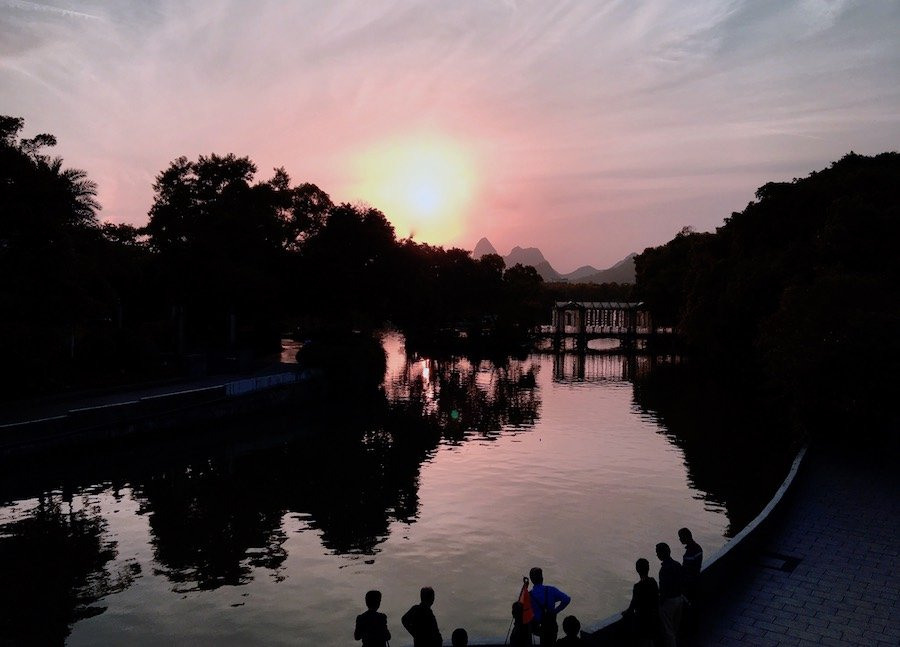 Sunset in Guilin | Image © Expat Alli
