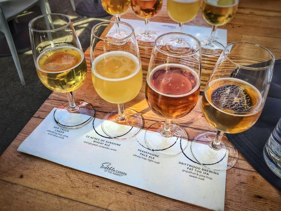 Beer tasting glasses in Vancouver | Image © ExpatAlli.com