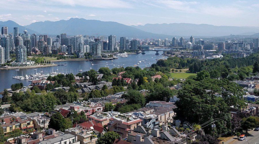 Aerial view of Vancouver's Fairview neighbourhood