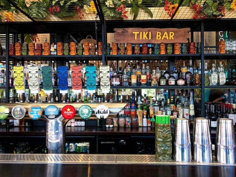 The bar at Auckland's Good Luck Coconut tiki bar | Image © ExpatAlli.com