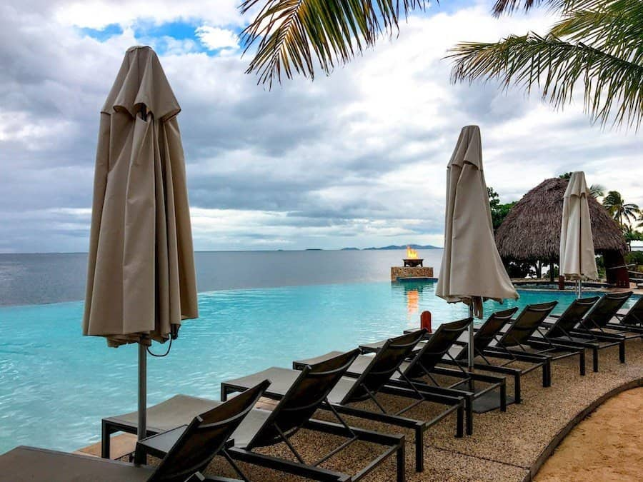 Adults-only infinity pool at the Fiji Marriott Momi Bay Resort | Image © ExpatAlli.com