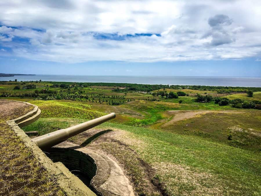 View from the top of one of Momi Battery's guns | Image © ExpatAlli.com