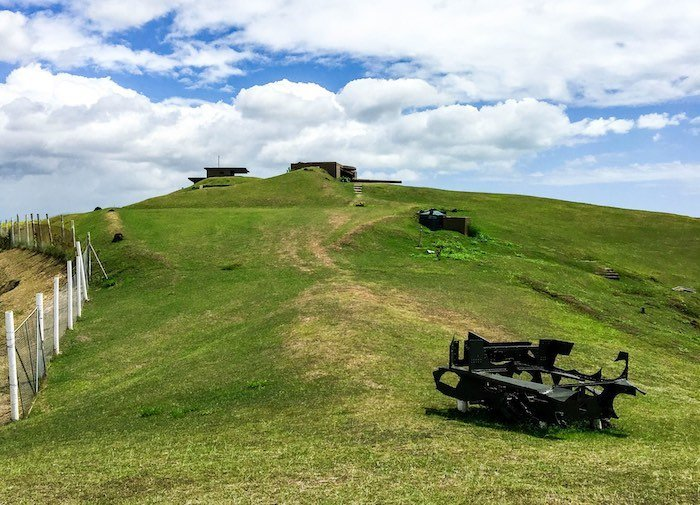 Abandoned WWII military structures on Fiji's Momi Battery hilltop | Image © ExpatAlli.com