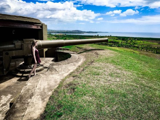 Outside view of one of Momi Battery Park's big guns | Image © ExpatAlli.com
