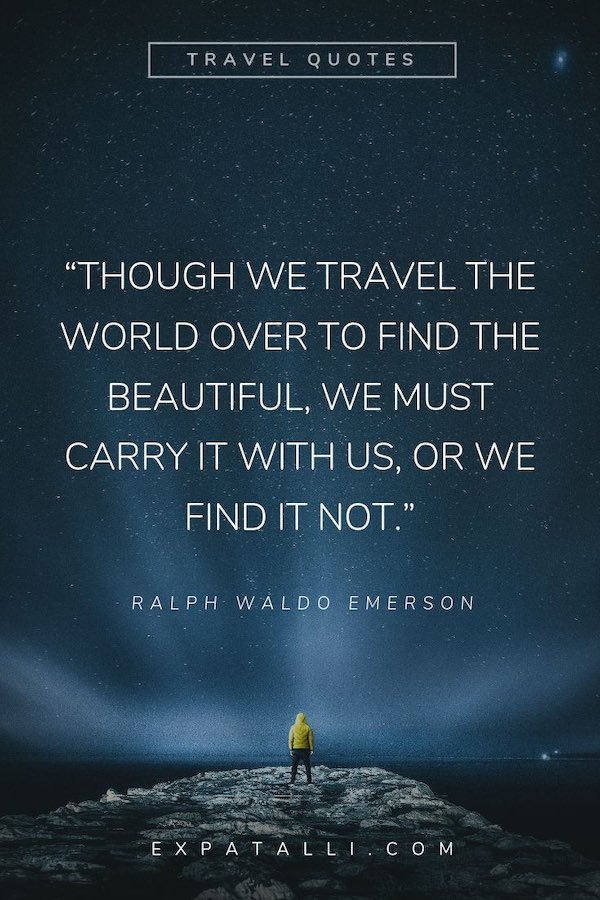 Pinterest image of a globe with Jhumpa Lahiri quote   Best Travel Quotes from Literature   ExpatAlli.com