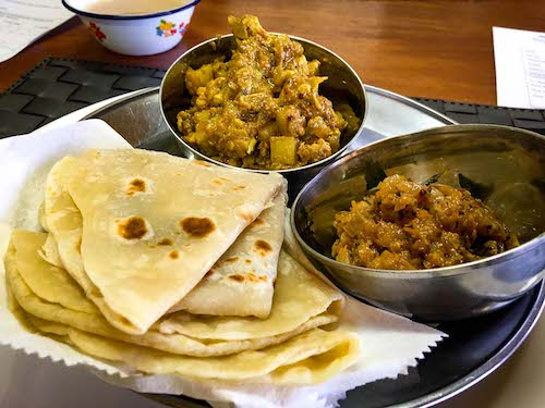 Prepared dishes of Indo-Fijian food at a Nadi cooking class | Image © ExpatAlli.com