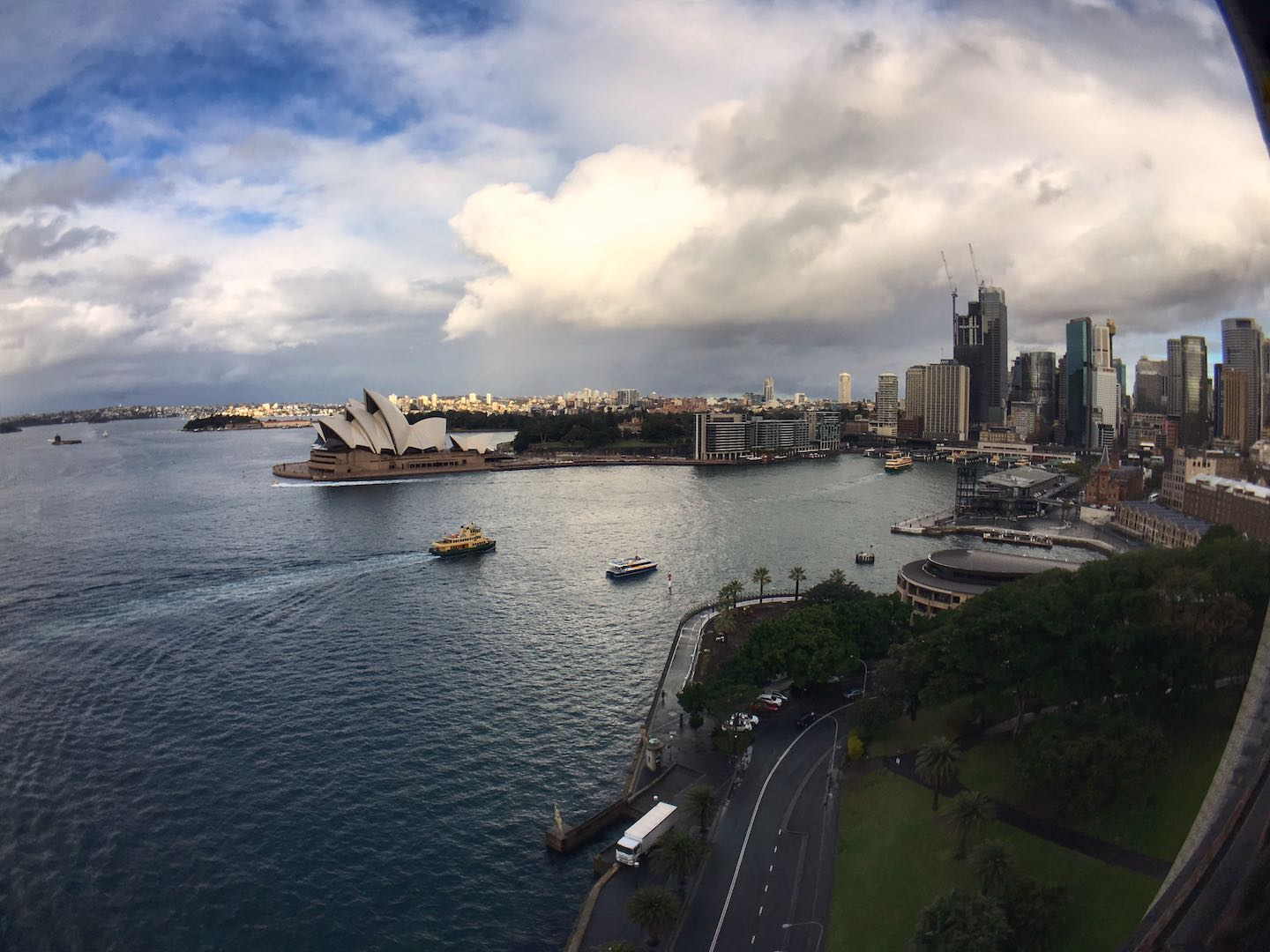 View of Sydney's skyline and Opera House from the Harbour Bridge | Image © ExpatAlli.com