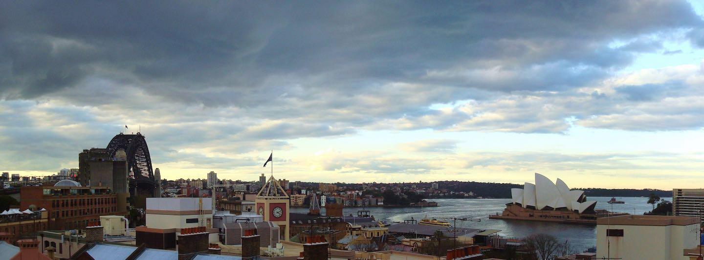 View from the rooftop at the Sydney Harbour YHA | Image © ExpatAlli.com