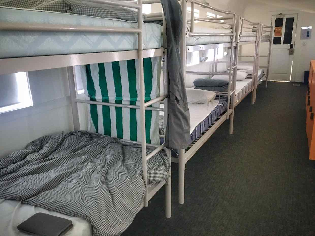 Train carriage dorm at the Sydney Railway Square YHA | Image © ExpatAlli.com