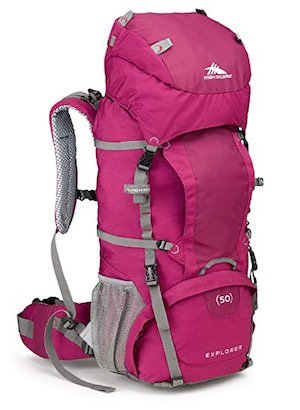 Image of pink High Sierra women's backpacking pack