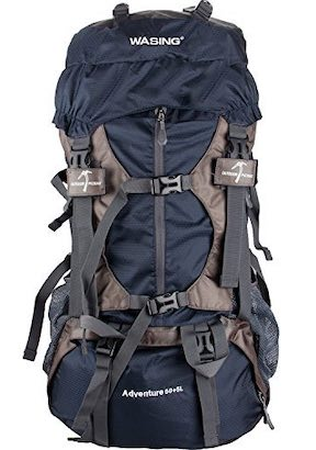 Image of navy blue WASING backpacking pack