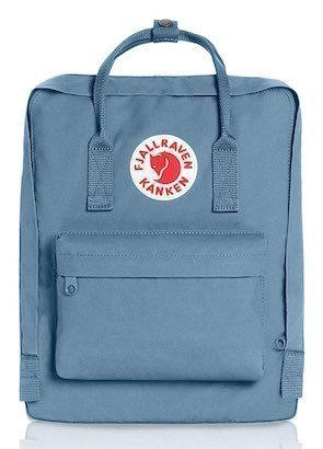Image of small blue Fjallraven backpack