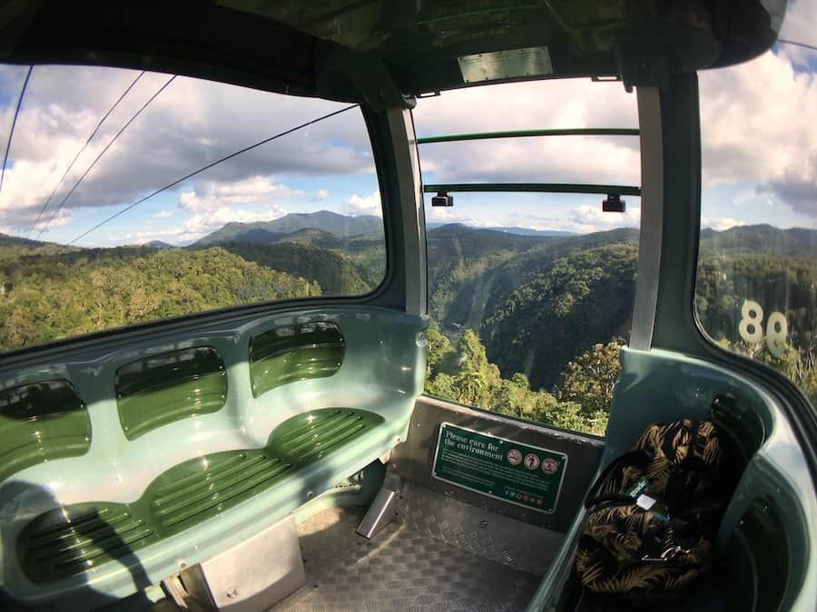 Internal view of a regular Skyrail cable car | Image © ExpatAlli.com