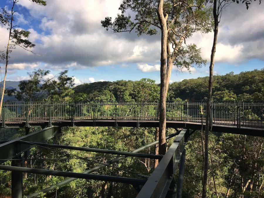 View of the Edge Lookout near Skyrail's Barron Falls Station | Image © ExpatAlli.com