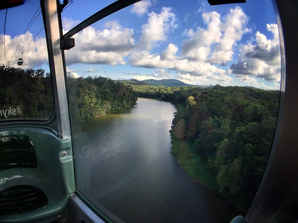 View from the Kuranda cable car near Cairns, Australia | Image © ExpatAlli.com